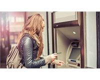 Woman Student Banking at ATM